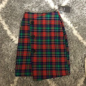 Bershka Plaid Skirt